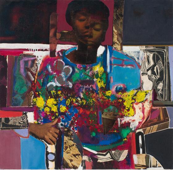 Woman with Flowers David Clyde Driskell