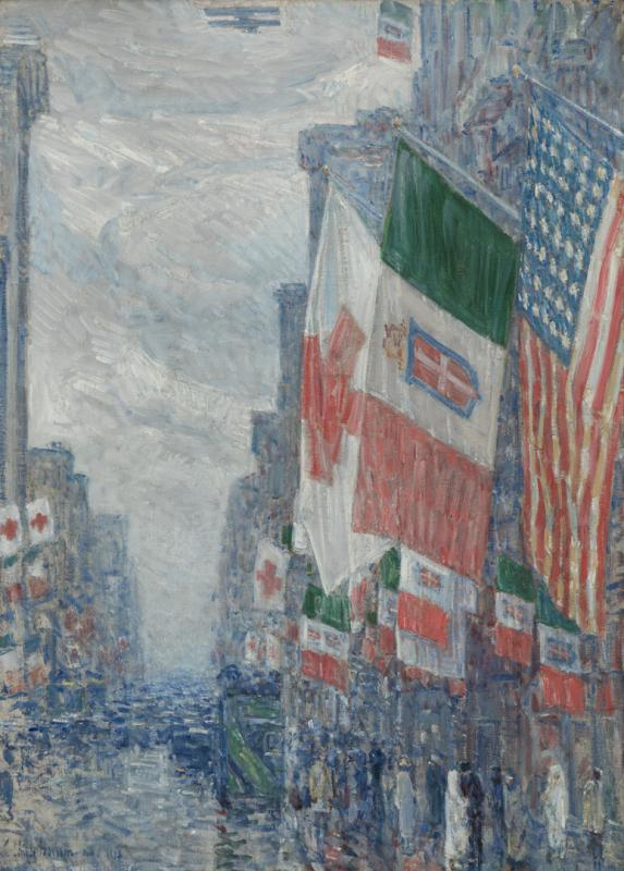 Italian Day, May 1918 Childe Hassam