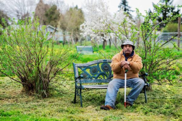 Mike Sanchez in Churchill Community Garden Eugene Oregon
