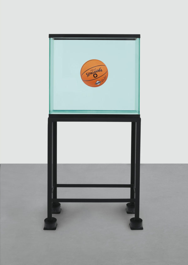 Jeff Koons One Ball Total Equilibrium Tank Spalding Dr. J Silver Series