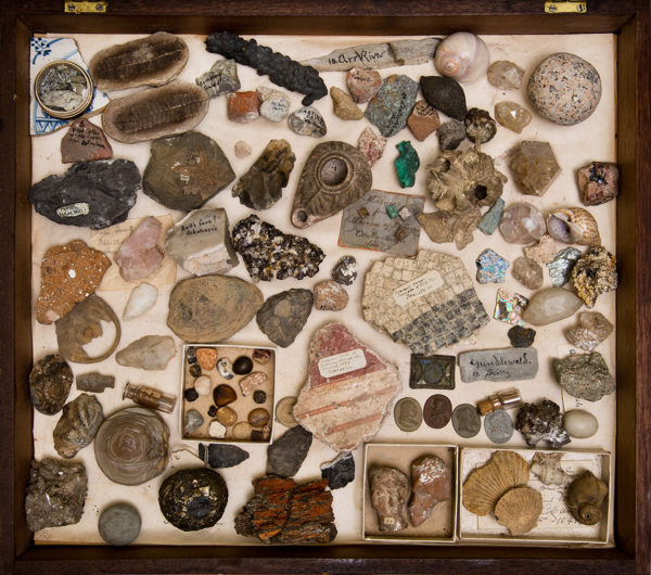 Thomas Cole, Thomas Cole's Box of Minerals and Artifacts, c. 1830-1848