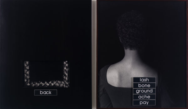 Lorna Simpson, Outline, 1990.