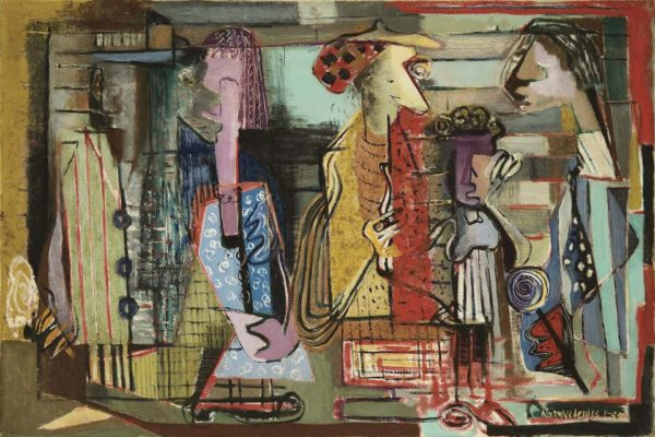 Norman Wilfred Lewis Untitled Subway Station 1945